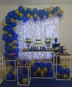 15 anos diversos 33 247x296 - Decoração Azul  Royal e Dourado