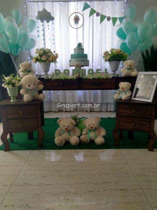 Ursinho verde e branco 12 510x680 - Chá de Bebê Branco e verde ursinhos
