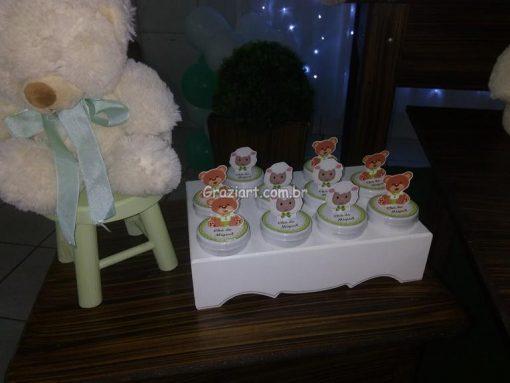 Ursinho verde e branco 19 510x383 - Chá de Bebê Branco e verde ursinhos
