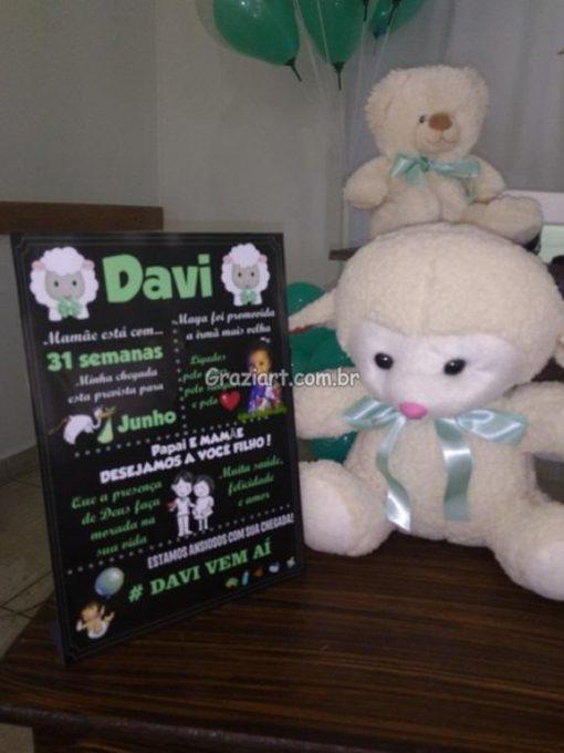Ursinho verde e branco 4 510x680 - Chá de Bebê Branco e verde ursinhos