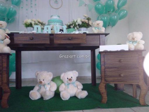 Ursinho verde e branco 5 510x383 - Chá de Bebê Branco e verde ursinhos